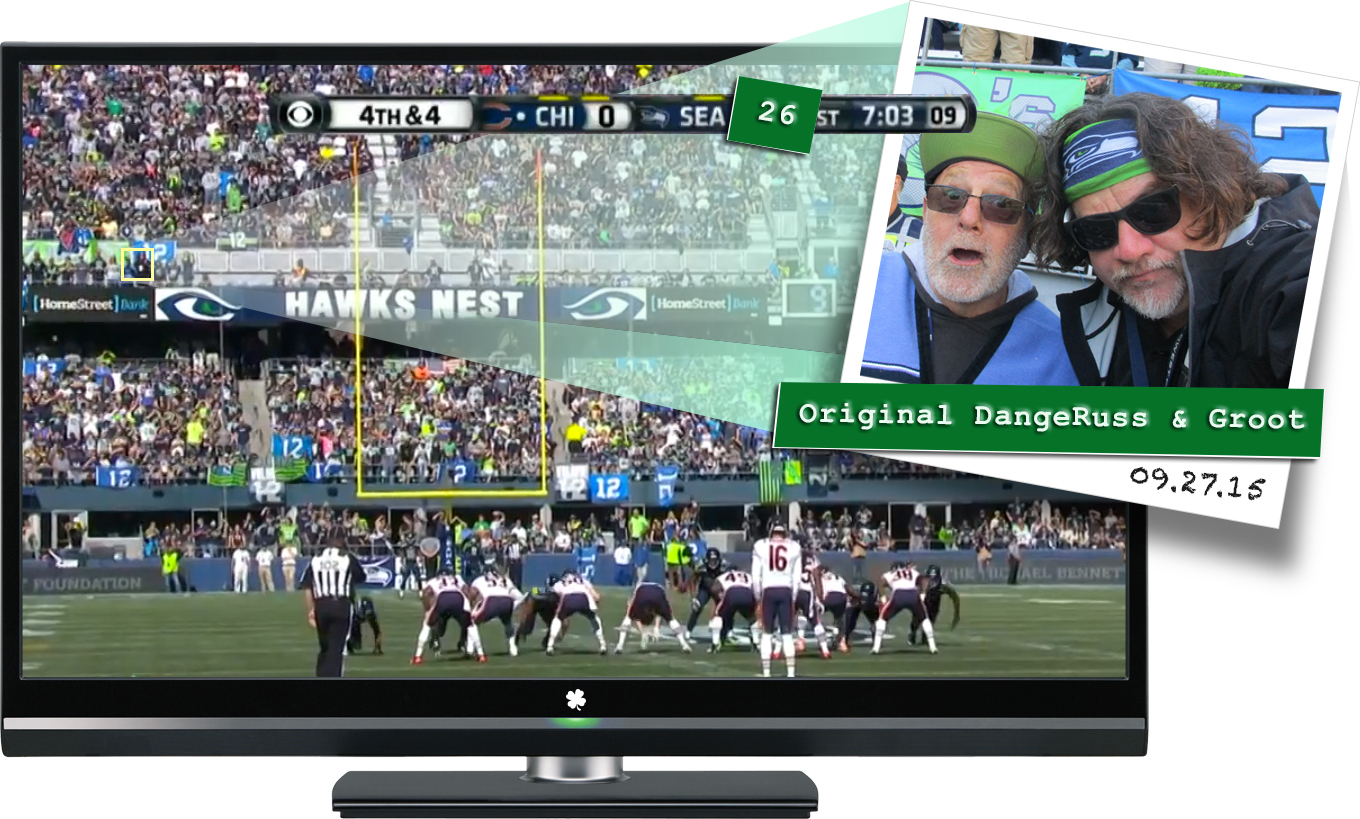 DangeRuss and Groot Seahawks 092715 on TV